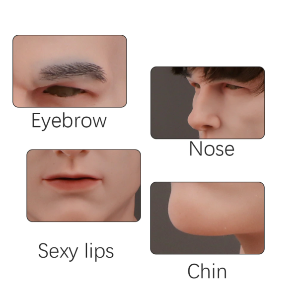 Caucasian Silicone Male Mask - Product Details