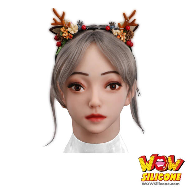 Cute Realistic Female Silicone Mask - Front