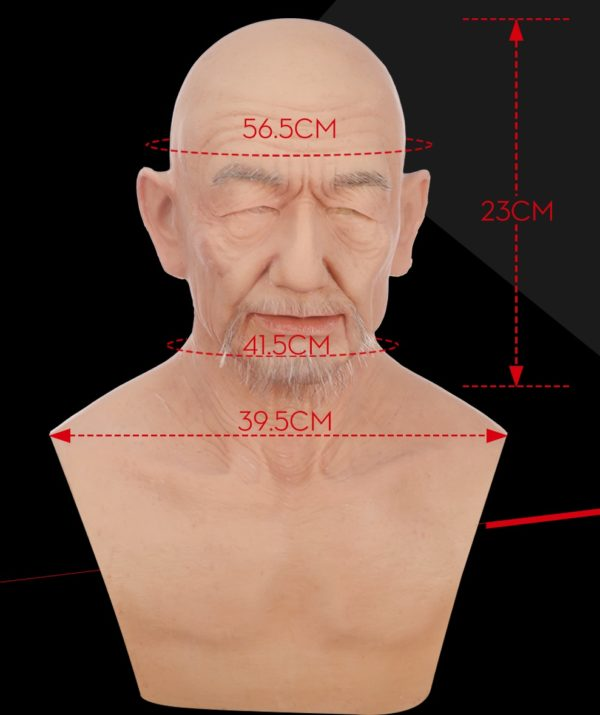 Old Man Silicone Mask Dimension