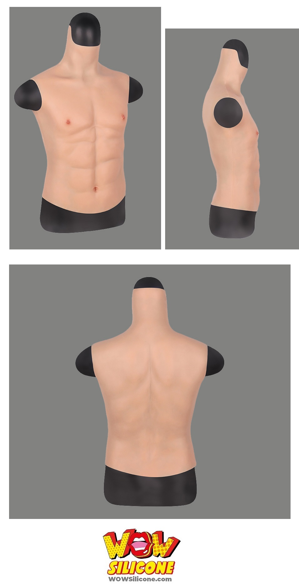 Male Muscle Silicone Chest Plate