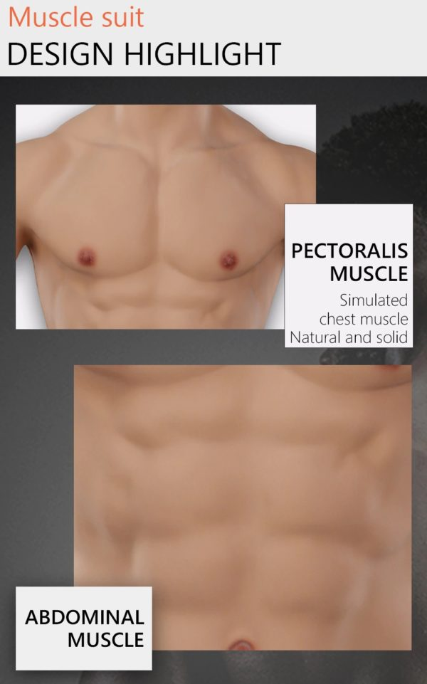 Product Details - Fake Muscle Chest Plate With Sleeves
