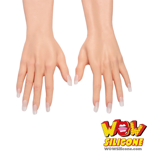 Realistic Silicone Long Gloves - Hand Details