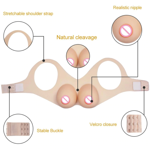 Strap On Silicone Breast Form - Product Details
