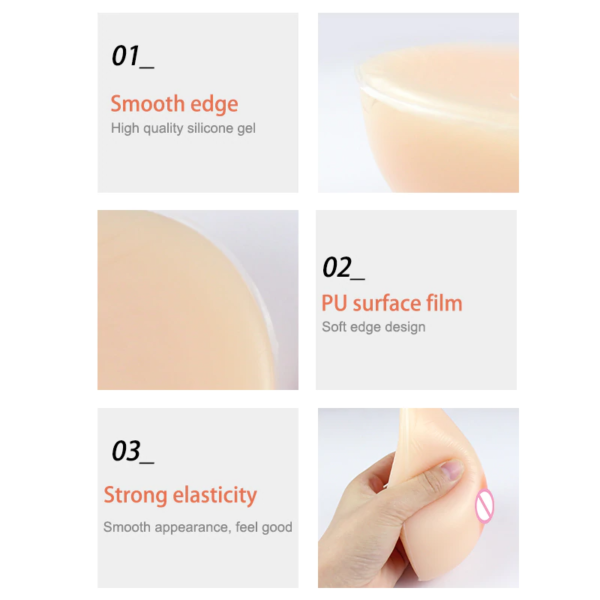Teardrop Silicone Breast Form - Product Details 1