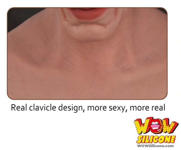 Realistic Prosthetic Old Male Silicone Mask - Clavicle